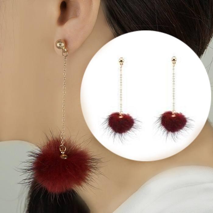 Anting Small Style Wind Earrings Fringe Wild Earrings Fur AP3493
