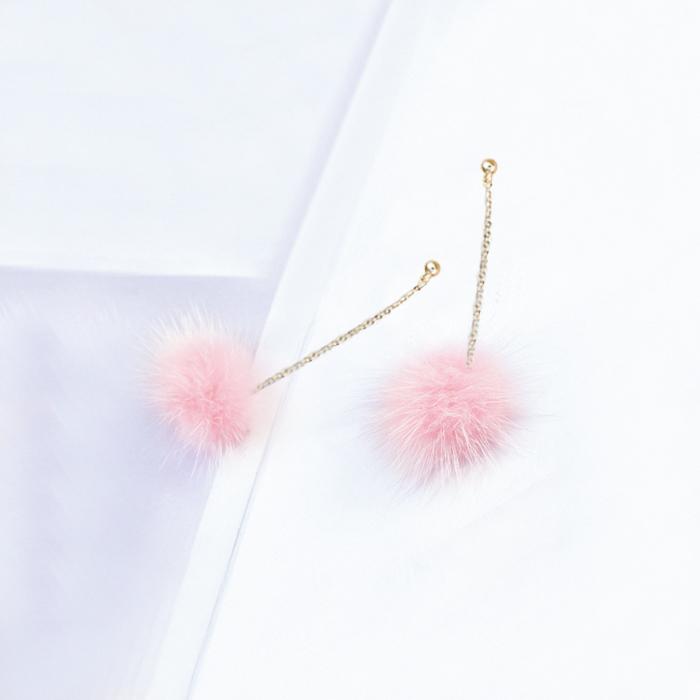 Anting Small Style Wind Earrings Fringe Wild Earrings Fur AP3495