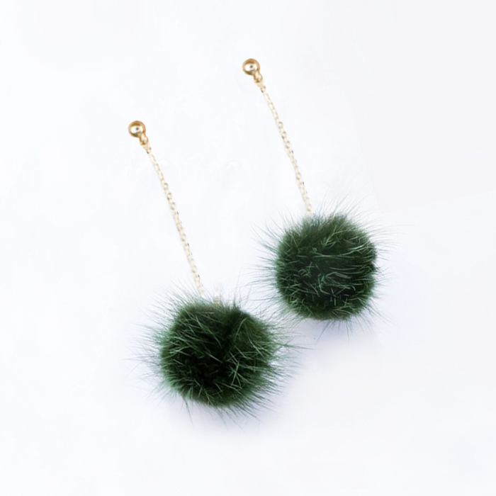 Anting Small Style Wind Earrings Fringe Wild Earrings Fur AP3496