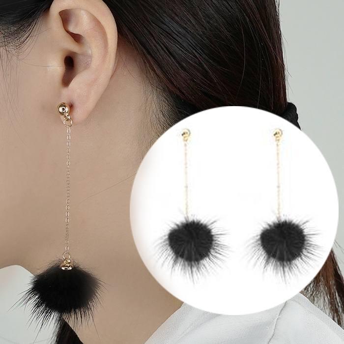 Anting Small Style Wind Earrings Fringe Wild Earrings Fur AP3498