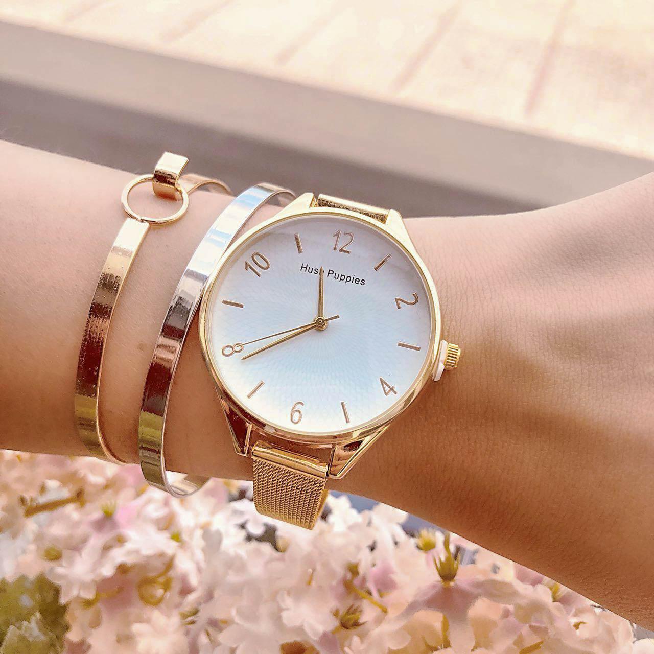 Pelengkap Pakaian HP Fashion Watch Chain Gold Frame + Gold Dial + Gold Band HPWC01