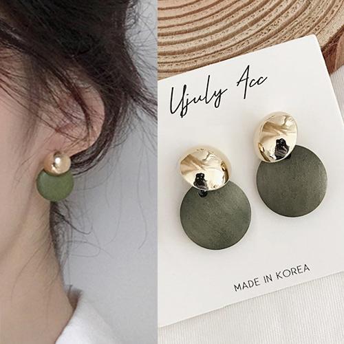Anting Vintage wooden earrings J41034