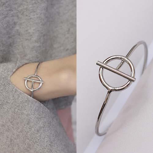 Bangle Minimalist ring bracelet J41146