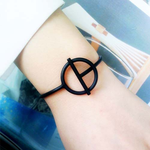 Bangle Minimalist ring bracelet J41147