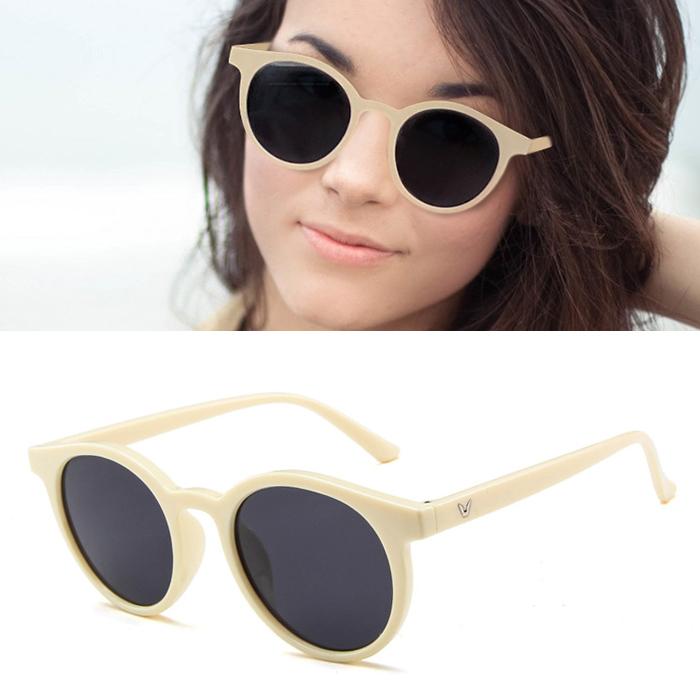 Kacamata Retro v paragraph sunglasses round frame J4U013