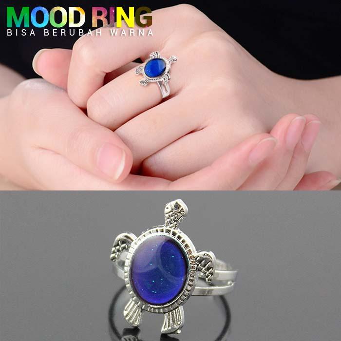 Mood Ring Turtle Shape bisa berubah warna J4U044