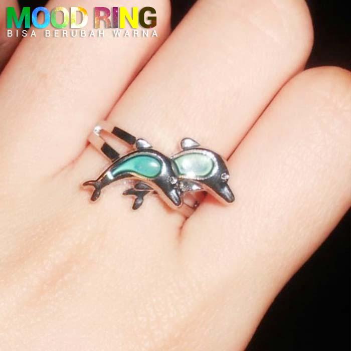 Mood Ring Dolphin Shape bisa berubah warna J4U045
