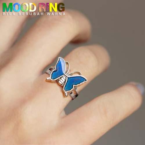 Mood Ring Butterfly Shape bisa berubah warna J4U046