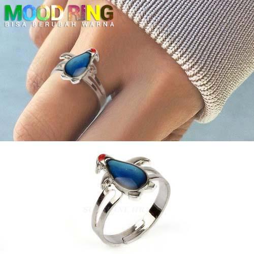 Mood Ring Penguin Shape bisa berubah warna J4U083