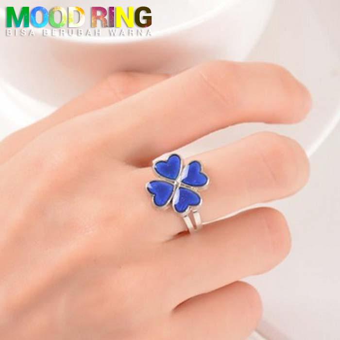 Mood Ring Clover Shape bisa berubah warna J4U085