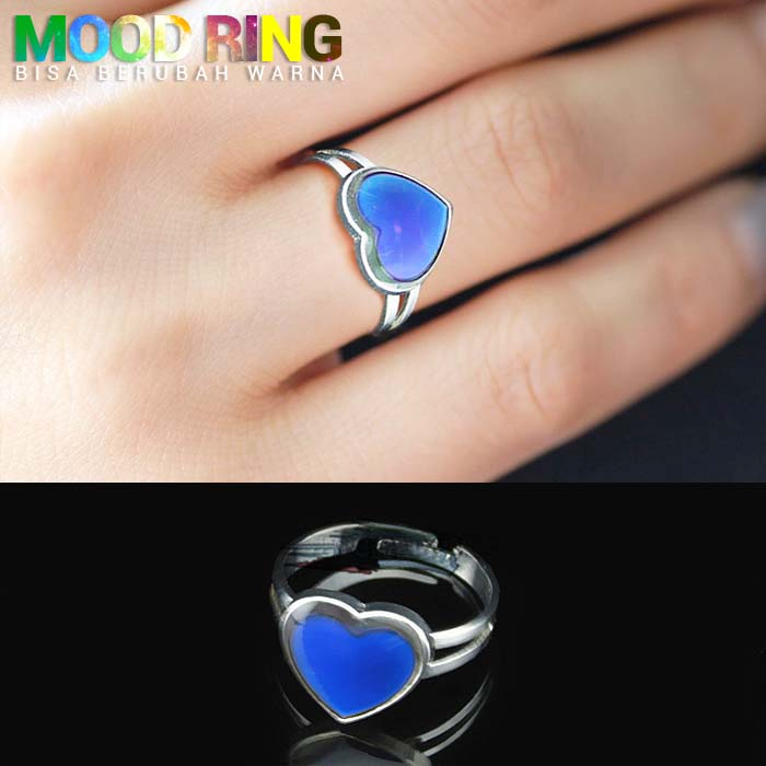 Mood Ring Heart Love Shape bisa berubah warna J4U087