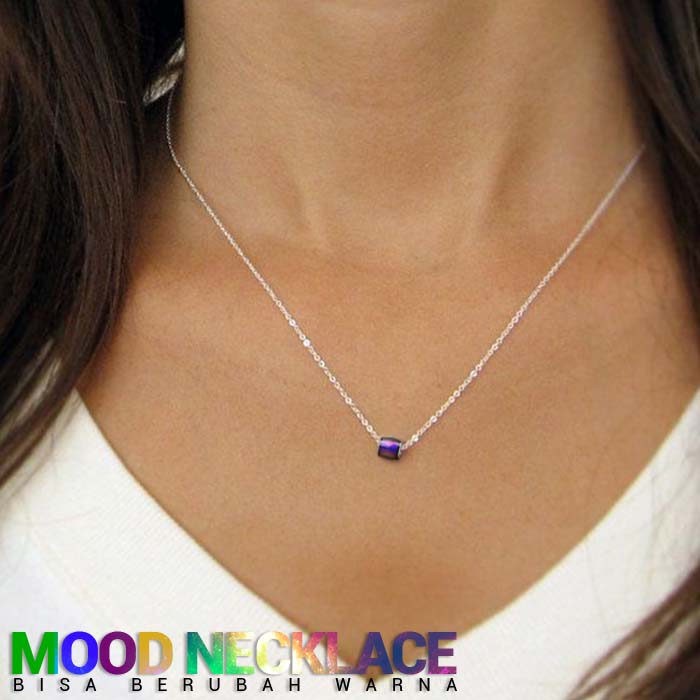 Mood Necklace Stainless Steel lucky beads bisa berubah warna J4U090