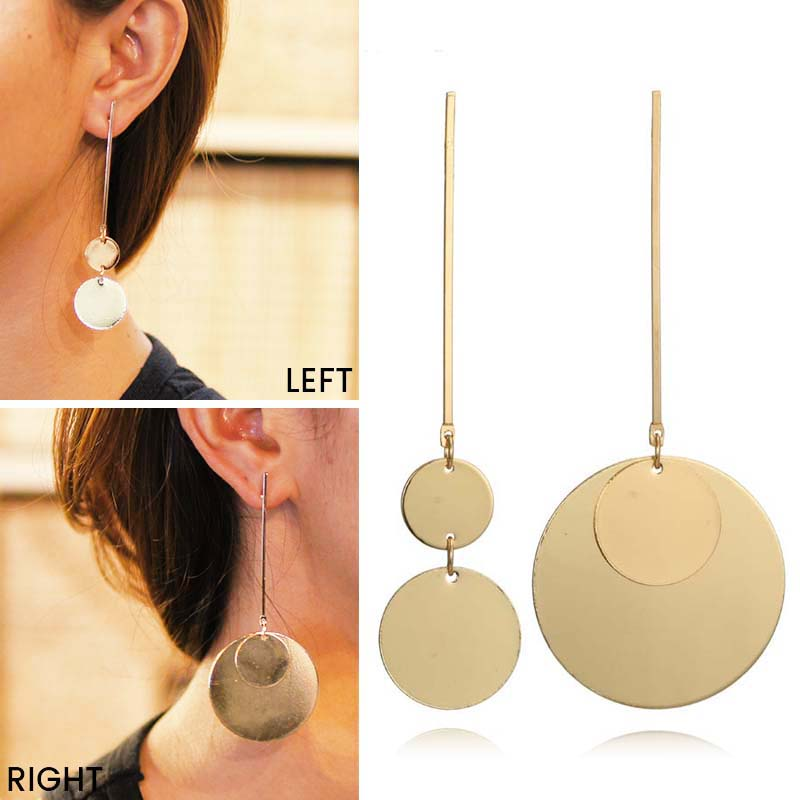 Bohemian retro geometric round earrings J4U767