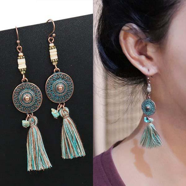 Anting Boehmain retro round earrings J4U970