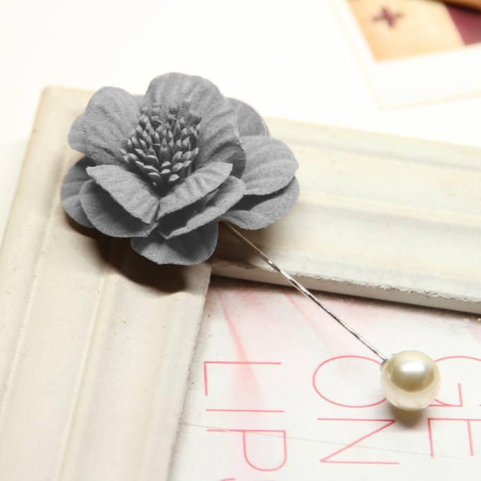Bross Flower Pearl Big Brooch JU1008