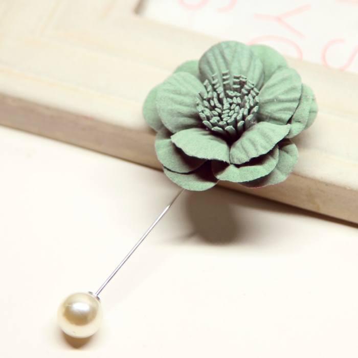 Bross Flower Pearl Big Brooch JU1010