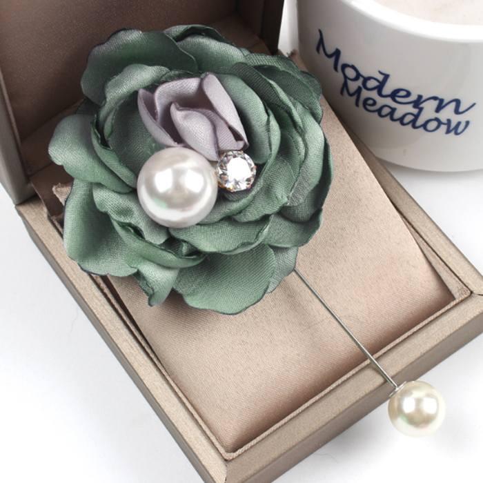 Bross Flower Pearl Brooch JU1026