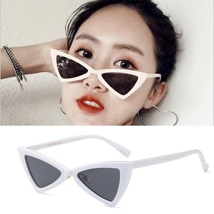 Kacamata triangle cat eye sunglasses tide ladies glasses JU1211