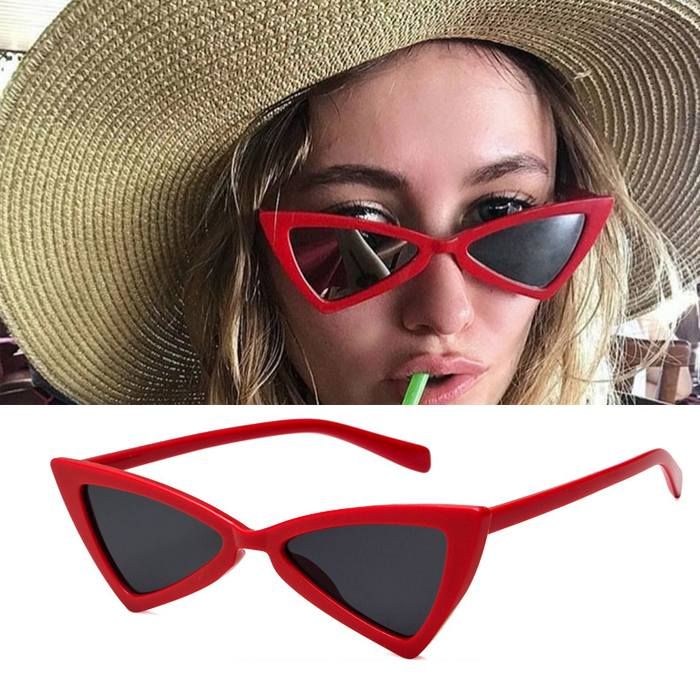 Kacamata triangle cat eye sunglasses tide ladies glasses JU1212