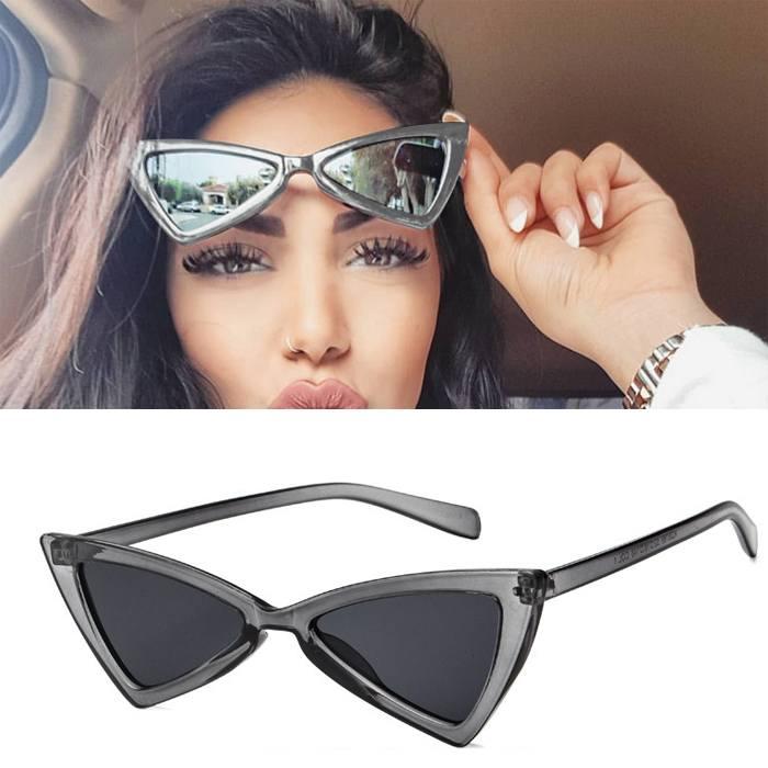 Kacamata triangle cat eye sunglasses tide ladies glasses JU1213