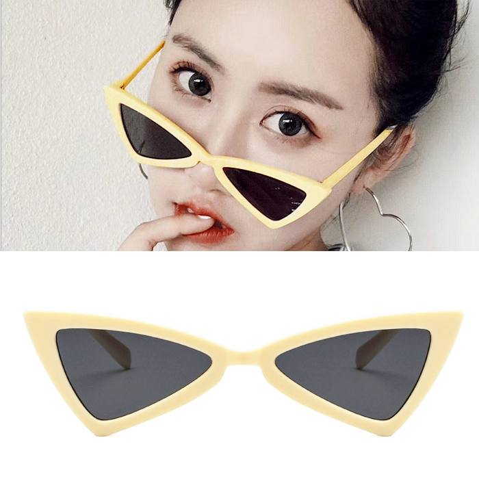 Kacamata triangle cat eye sunglasses tide ladies glasses JU1214