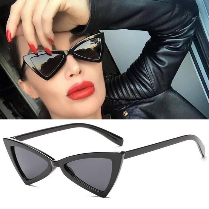 Kacamata triangle cat eye sunglasses tide ladies glasses JU1215