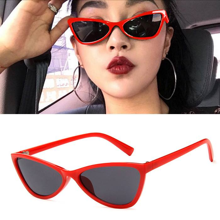 Kacamata retro cat eye star sunglasses JU1216