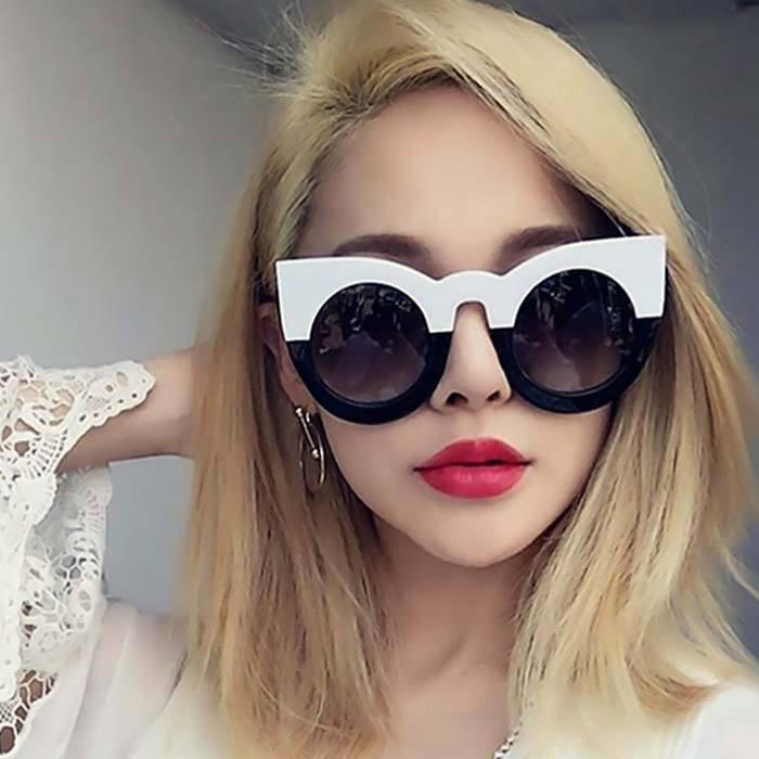 Kacamata Cat Eye Sunglasses Big Lens JU1223