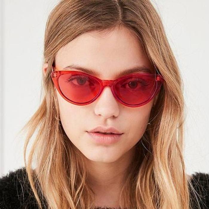 Pelengkap Pakaian Sunglasses Trendy Cat Eye Sunglasses Cross-Border  JU1242