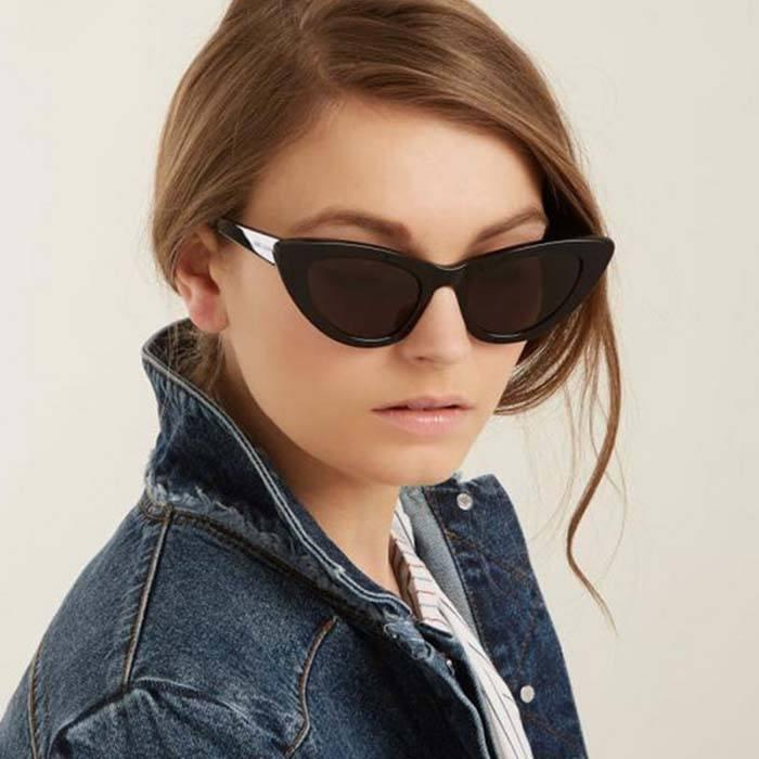 Pelengkap Pakaian Sunglasses Trendy Cat Eye Sunglasses Cross-Border  JU1243