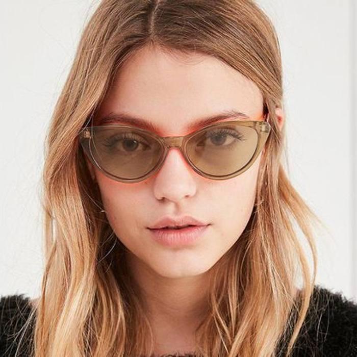 Pelengkap Pakaian Sunglasses Trendy Cat Eye Sunglasses Cross-Border  JU1246