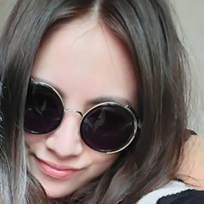Kacamata Transparant Round Sunglasses  Retro Steampunk JU1250
