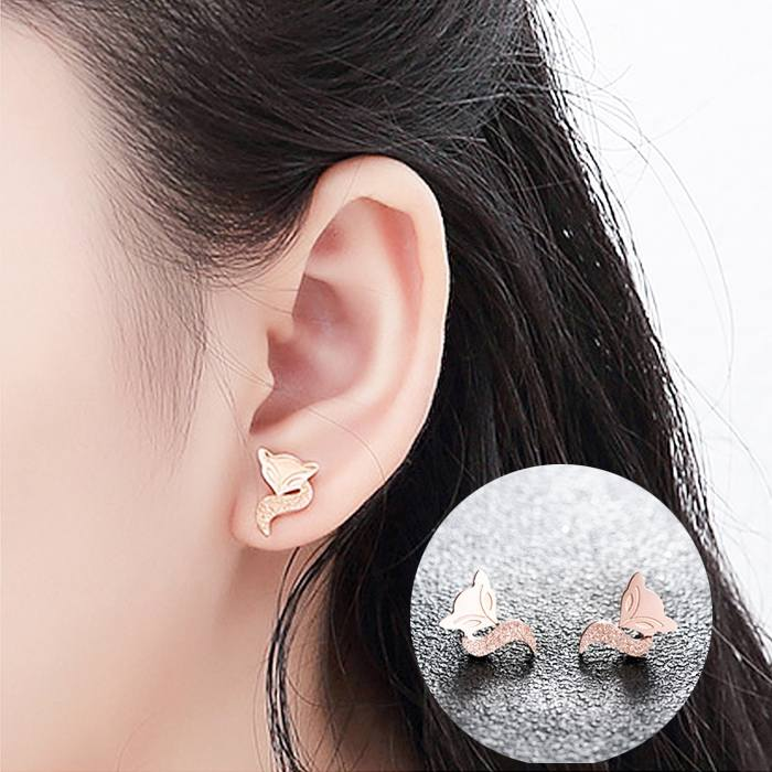 Anting Scrub Fox Titanium Steel 18K AG5084
