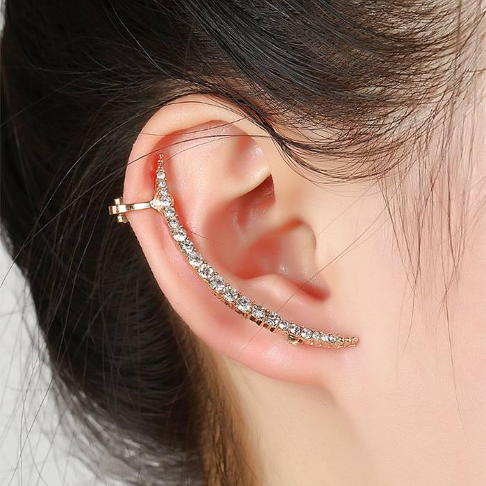 Anting Korea drill earrings diamond big ear ring JA0044