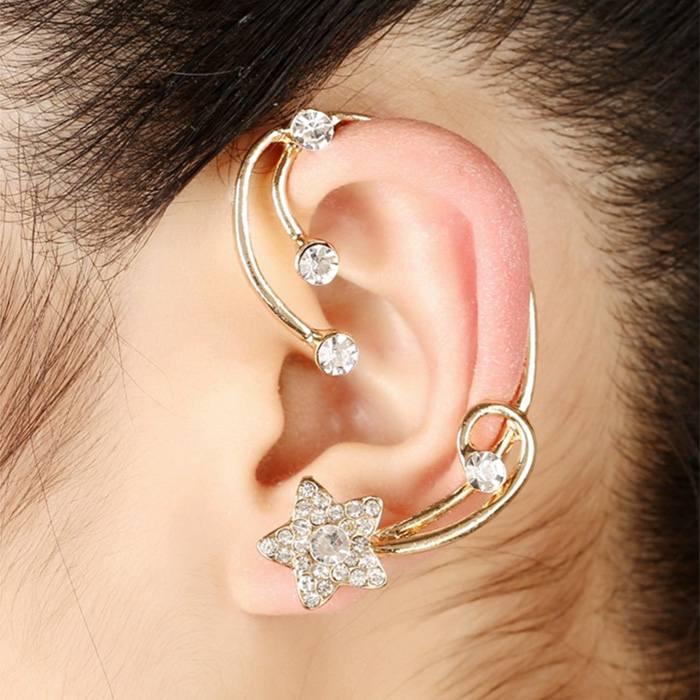 Anting Korea star ear hang ear clip earrings JA0069