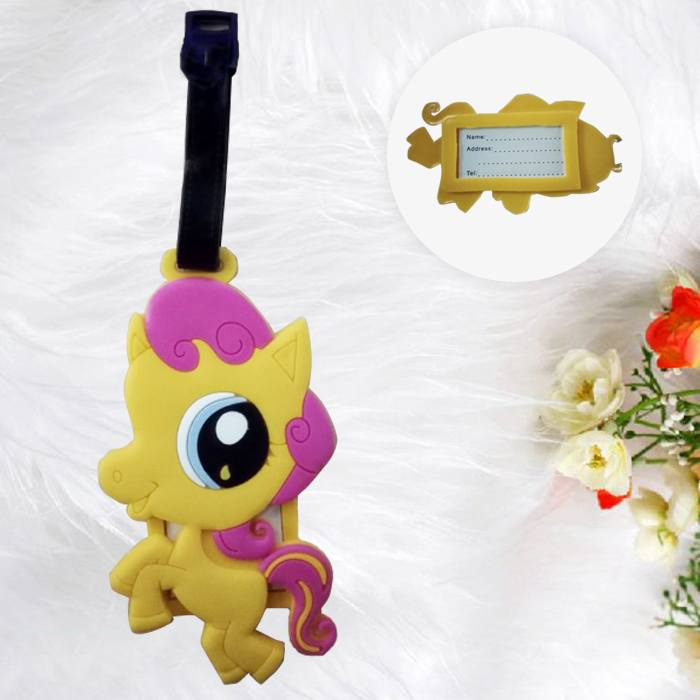 Home Health & Beauty Lugage Tag Little Pony Yellow PON004