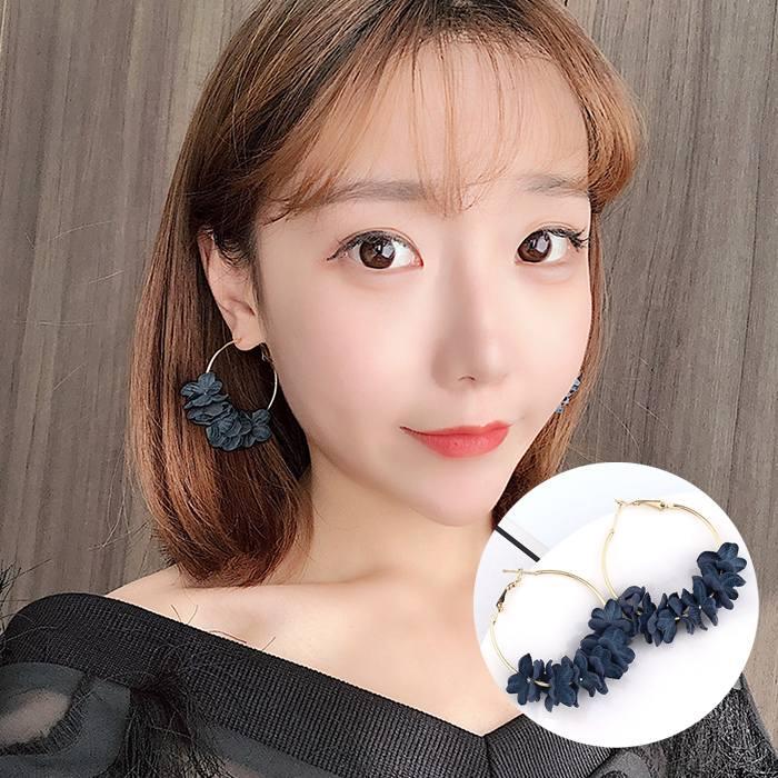 Anting Korea Flower Flash Drill Earrings MAR006