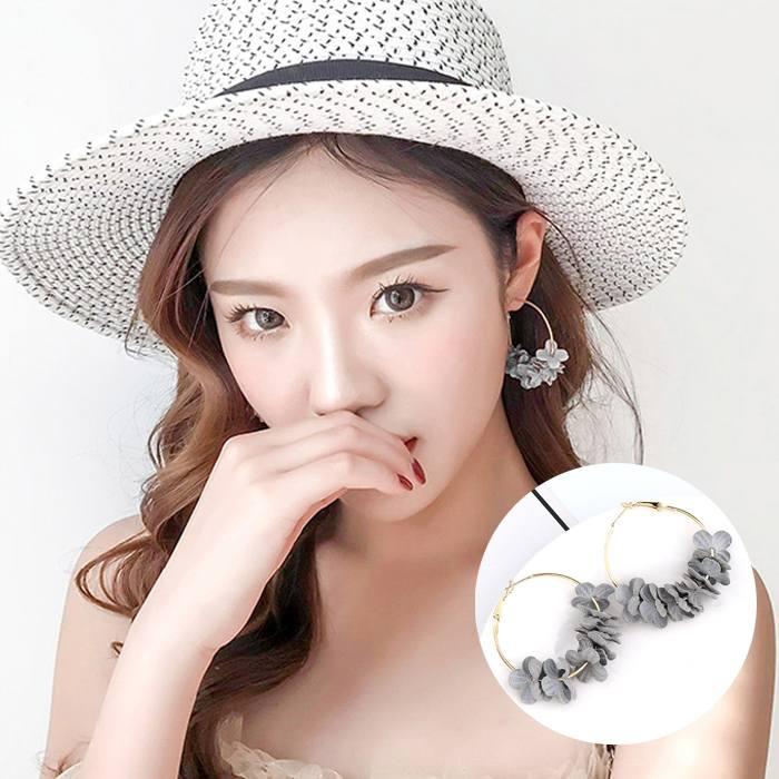 Anting Korea Flower Flash Drill Earrings MAR008