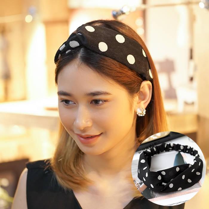 Bando & Ikat Rambut 2019 Korean version of the new hair band stripe wave point line hair band  AG5290