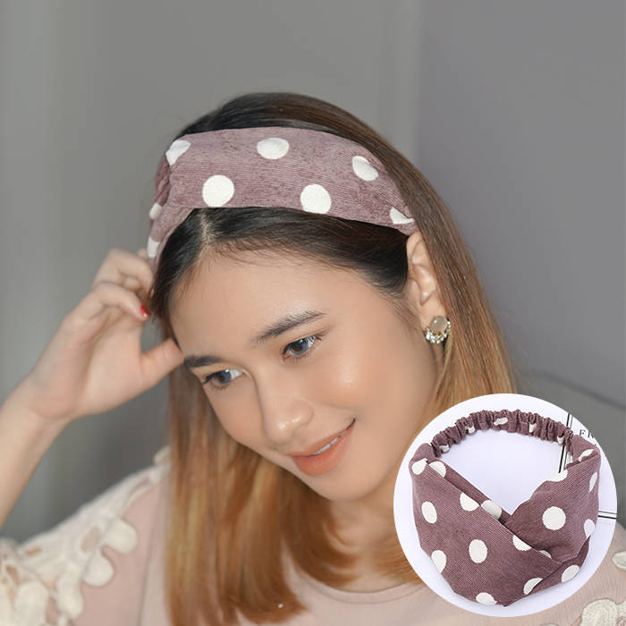 Bando & Ikat Rambut 2019 Korean version of the new hair band stripe wave point line hair band  AG5291