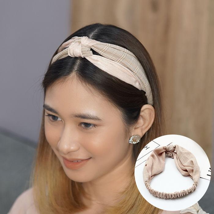 Bando & Ikat Rambut Korean personality color matching fabric hair band Korean version headband AG5544