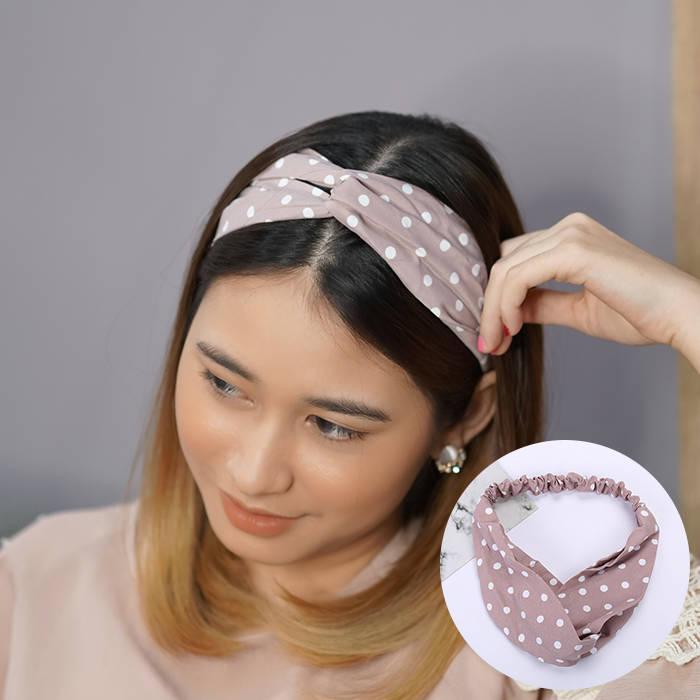 Bando & Ikat Rambut Spot Korean cloth small polkadot hair accessories AG5598