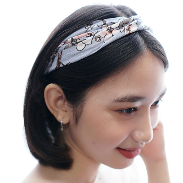 Aksesoris Rambut Korea chic new spring and summer small fresh plum blossoms elastic  AG5652