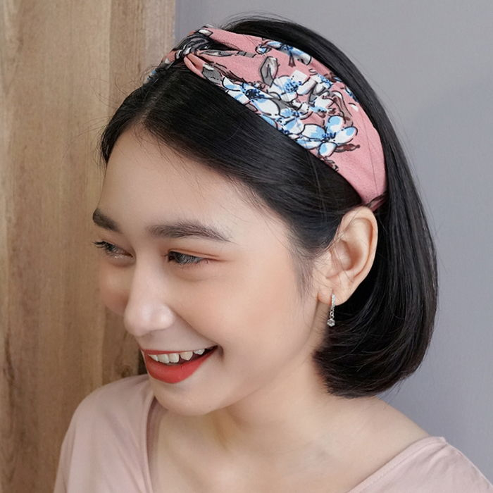 Aksesoris Rambut Korea chic new spring and summer small fresh plum blossoms elastic  AG5653