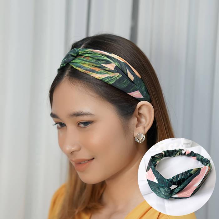 Bando & Ikat Rambut 2019 explosion models holiday wind tropical banana leaf hair band  AG5657