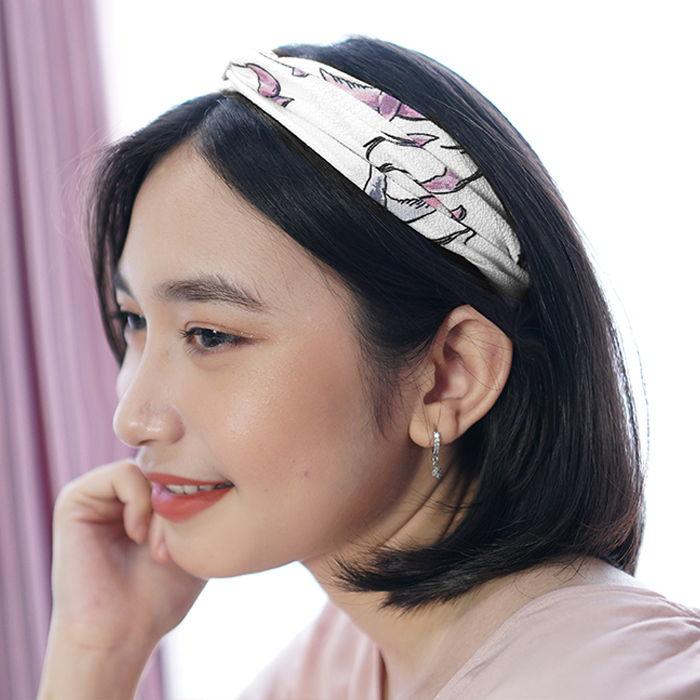 Bando & Ikat Rambut New elastic fabric hair band ladies headband  sports AG5664