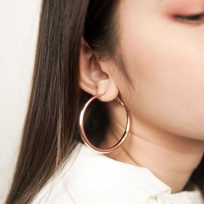 Anting Europe and the United States big new round metal ear ring ZA simple geometric earrings AG6049