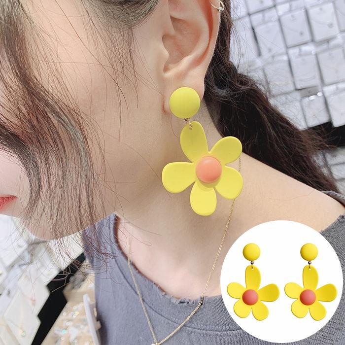 Korea sweet ins fluorescent color earrings JUL550