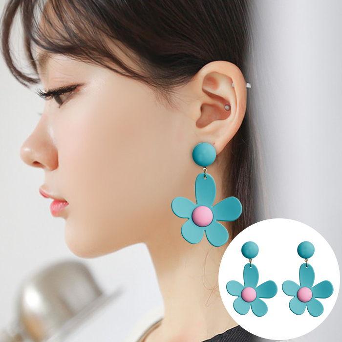 Korea sweet ins fluorescent color earrings JUL551
