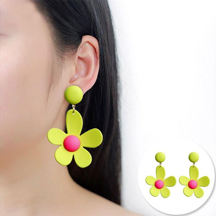 Korea sweet ins fluorescent color earrings JUL552